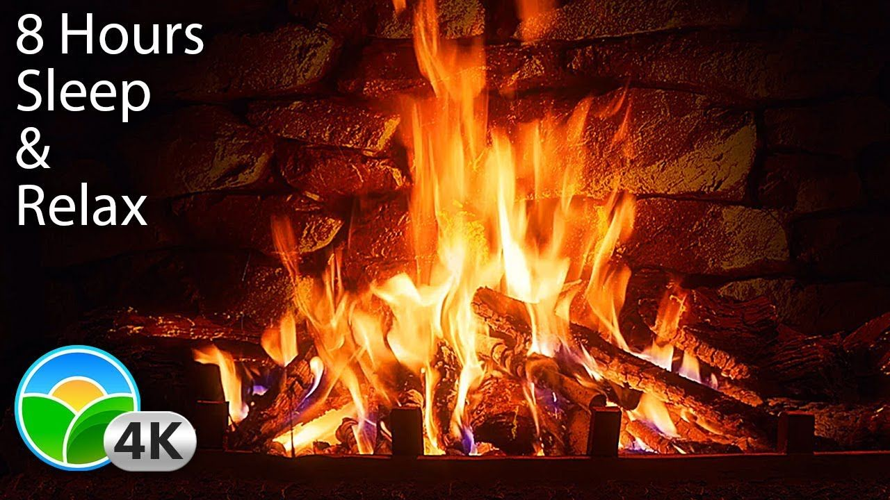 The Best 4k Relaxing Fireplace With Crackling Fire Sounds 8 Hours No M Screen Savers Fireplace Uhd Tv