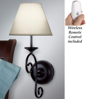 Led Remote Control Vintage Wall Sconce Light Battery Operated