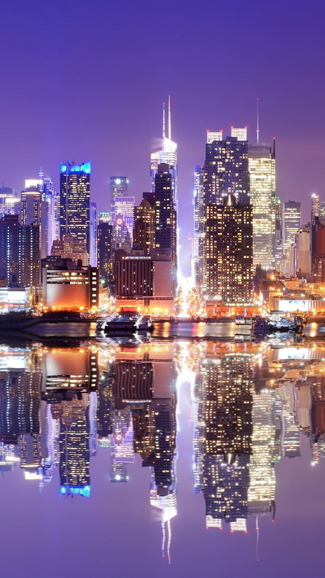 Hong Kong Reflection Wallpaper For Samsung Galaxy S5 Download City Lights Wallpaper City Wallpaper City Iphone Wallpaper