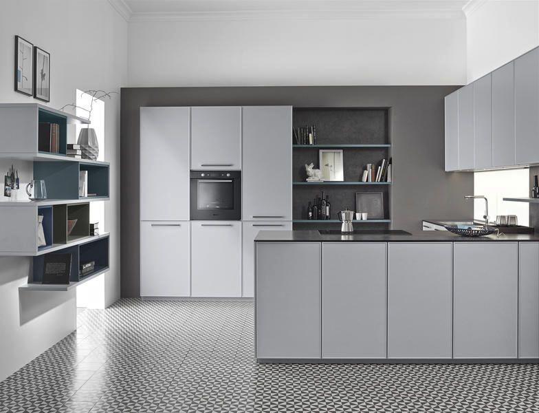Moderne Küche \/ Holz \/ lackiert - METROPOLITAN  CONTOUR LACK - küche aus holz