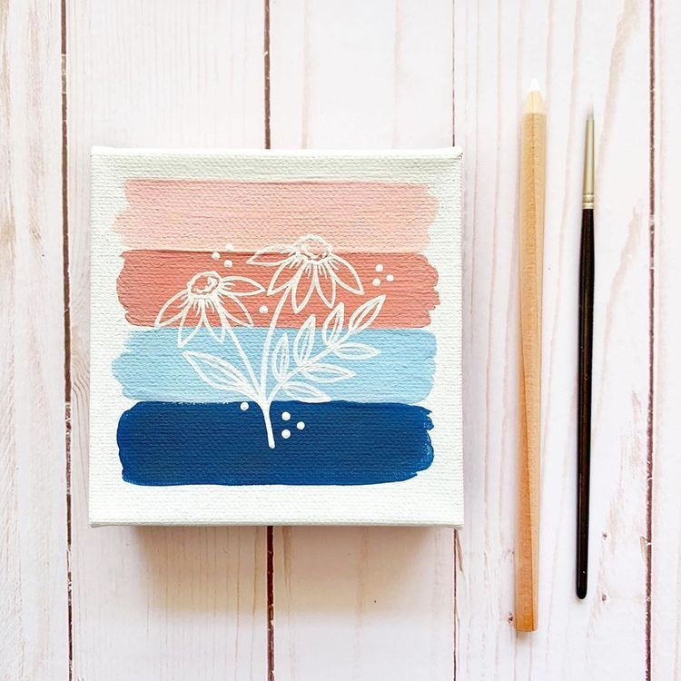 Zoe Pinterest Mini Canvas Art Small Diy