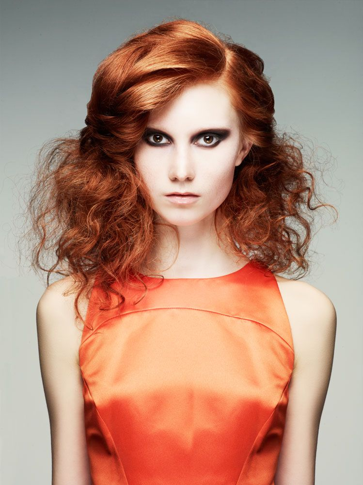 Shockingly chic textured red faux bob from Joanne Fanelli-Babiarz and Brittany Ciacciarelli