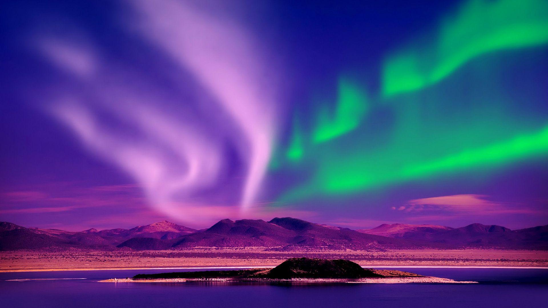 Northern Lights Aurora Borealis Night Canada 1920x1080 Wallpaper Desktop Wallpaper Best Wallpaper Hd Northern Lights