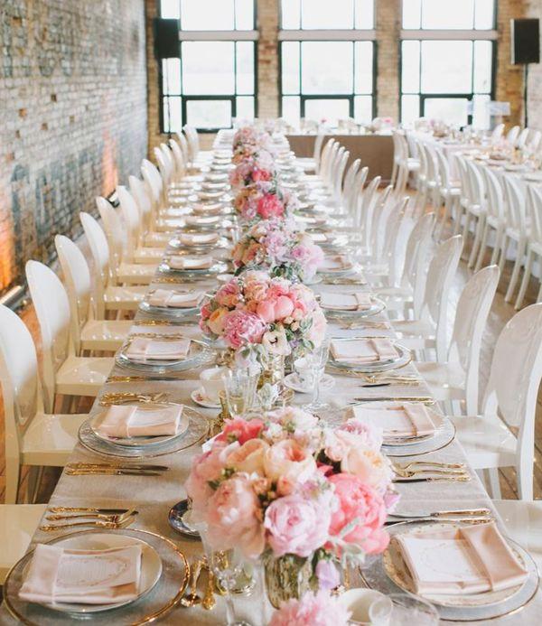 Long table pink wedding centerpiece photography mango studios long table pink wedding centerpiece photography mango studios junglespirit Image collections