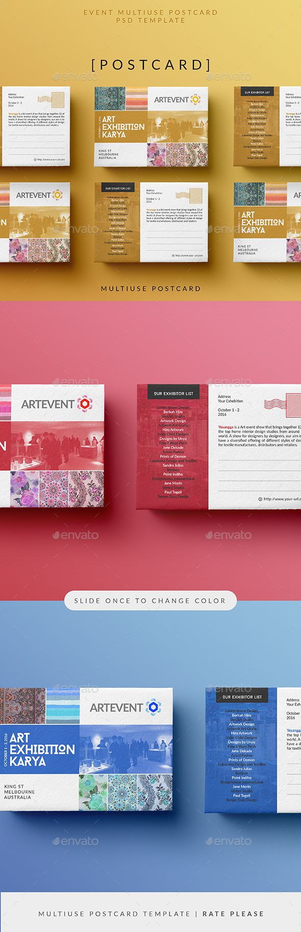 Simple Event Psd Postcard Template • Only Available Here ➝  Http://graphicriver.net/item/simple-Event-Postcard/16576221?ref=Pxcr
