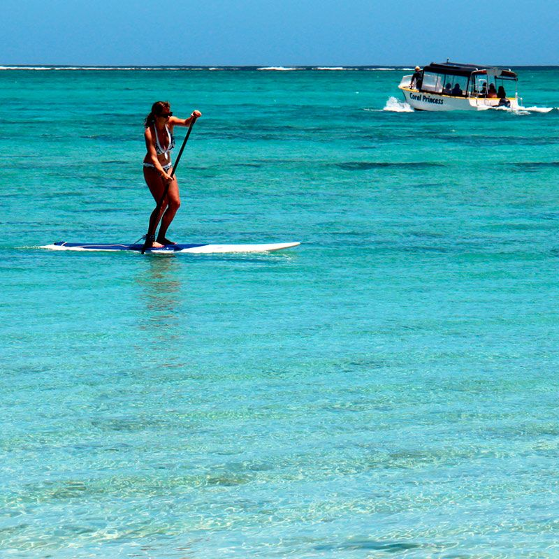 Lord Howe Island Beaches: Stand Up Paddle Boarding On The Lagoon On Lord Howe Island
