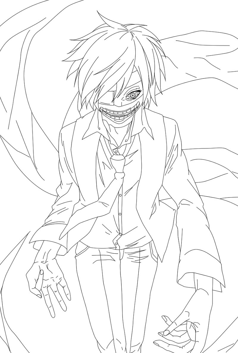 Tokyo Ghoul Coloring Pages Scary 101 Worksheets Tokyo Ghoul Anime Coloring Pages Ghoul [ 1183 x 800 Pixel ]