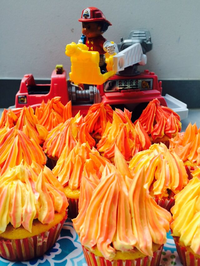 Feuer Cupcakes, Fireman Cake, Feuerwehr Mann