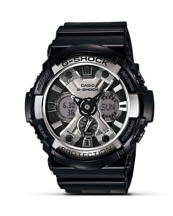 http://www.fashiontrendstoday.com/category/g-shock/ G-Shock Black Ana-Digital Watch, 55mm