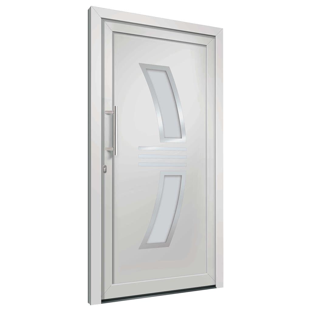 ZNTS Front Door White 108×208 cm 3057564
