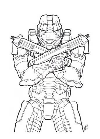 Halo Coloring Pages And Book Uniquecoloringpages