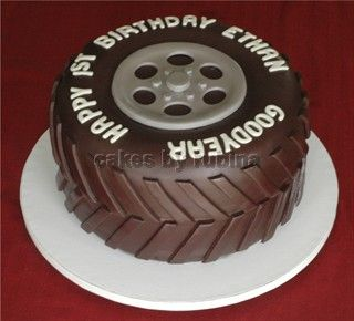 Wheels And Cake Tire Cake Black Fondant And Tired