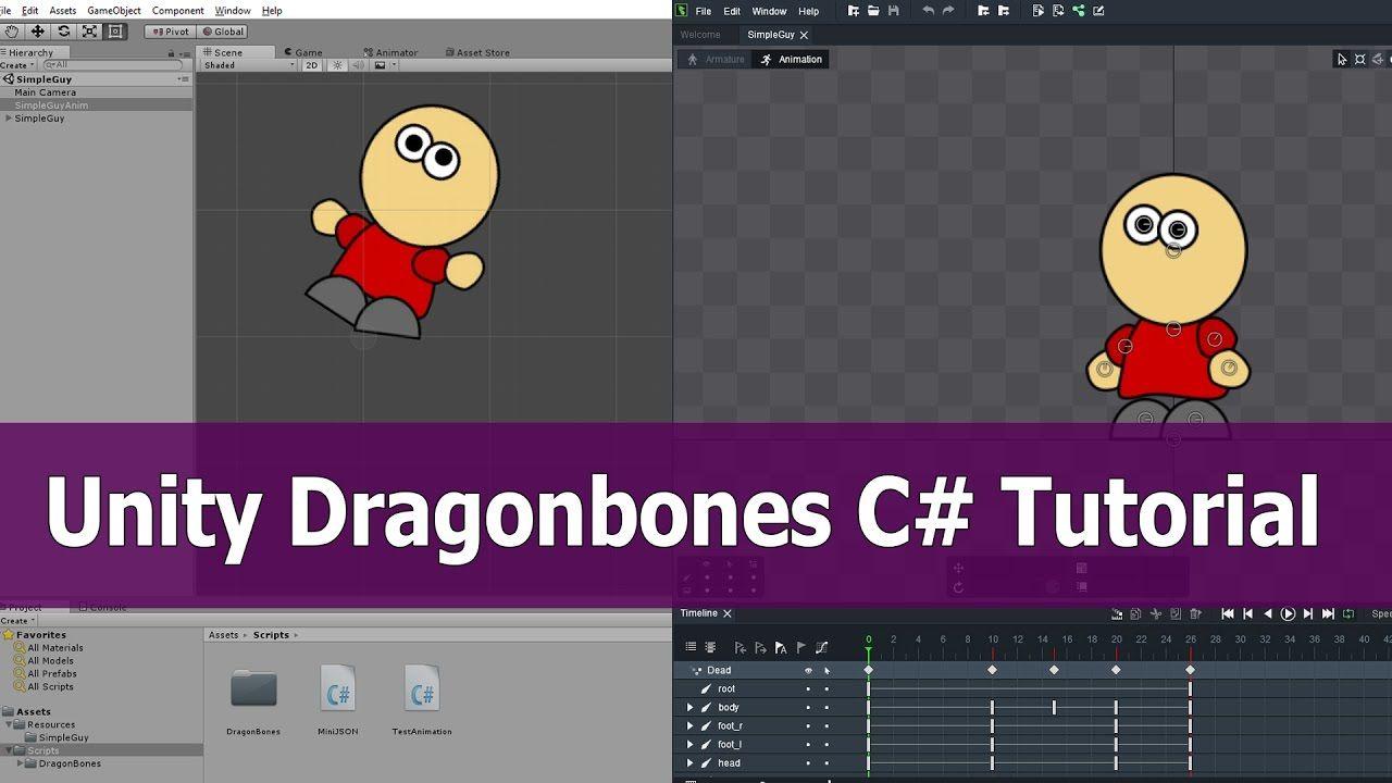 Dragonbones Unity Tutorial: Import Animation with C#