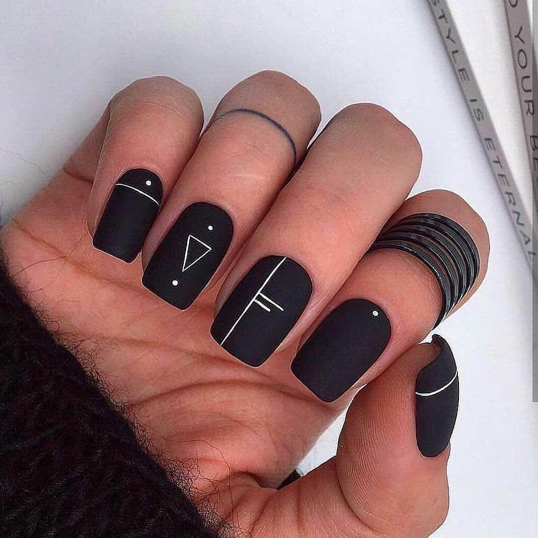 Top 50 Easy Nail Designs For Short Nails #designs #nails #short #AcrylicNails
