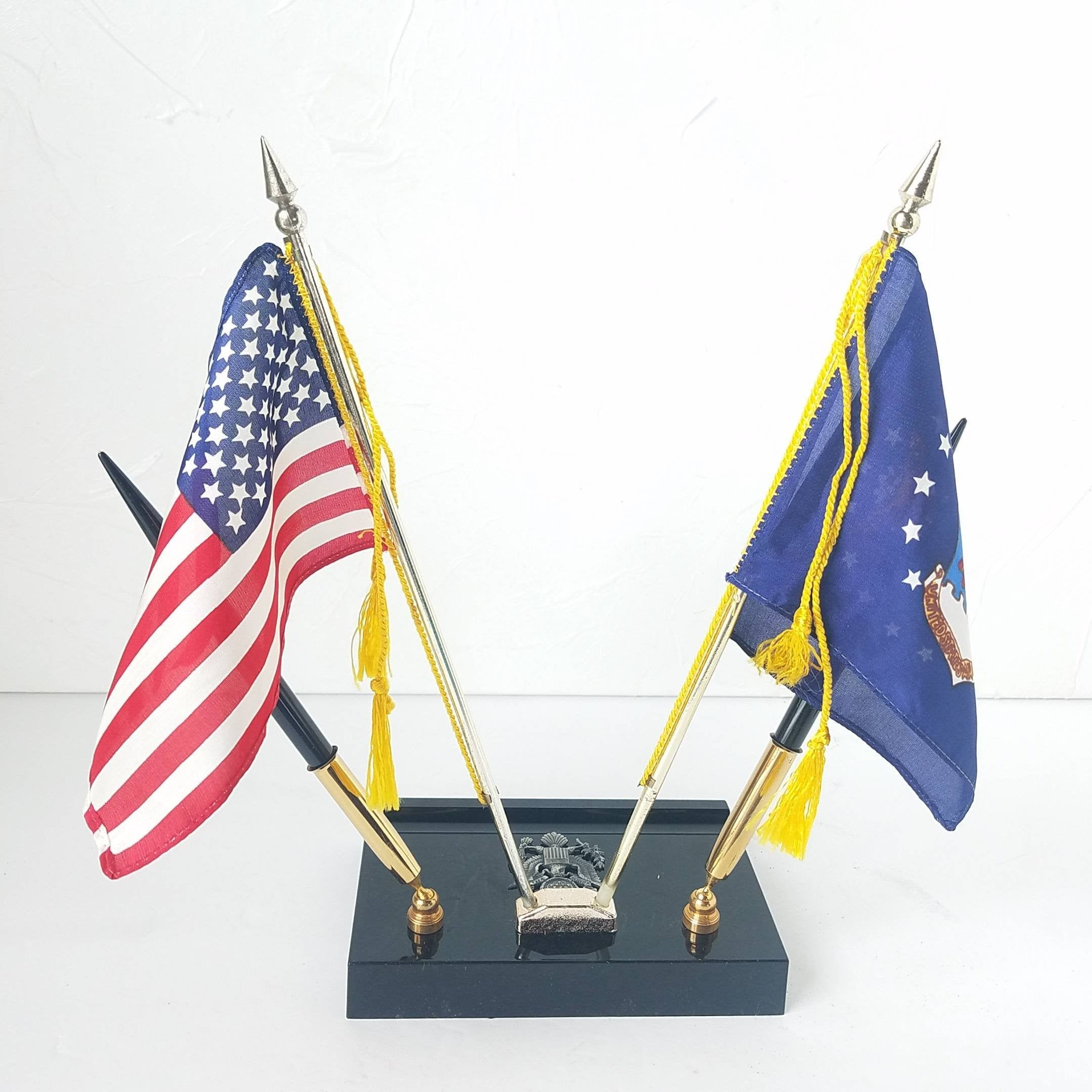 Pen Holder Vintage Flags American Air Force Desk Decor Etsy In 2020 Pen Holders Vintage Office Mini Flags