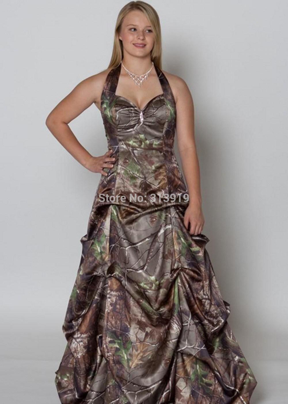 Wedding dresses camo  Click to Buy ucuc printing military realtree camo prom dress  new