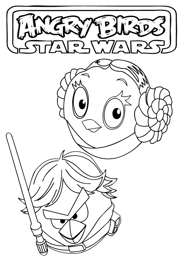 angry birds star wars coloring pages - Lego Princess Leia Coloring Pages