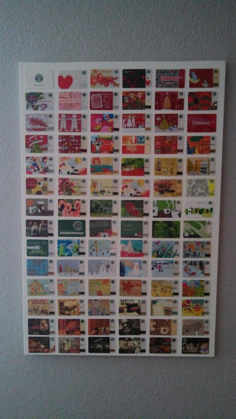 Starbucks Gift Cards Glued Onto A Canvas Hotel Key Cards Starbucks Crafts Starbucks Gift Card
