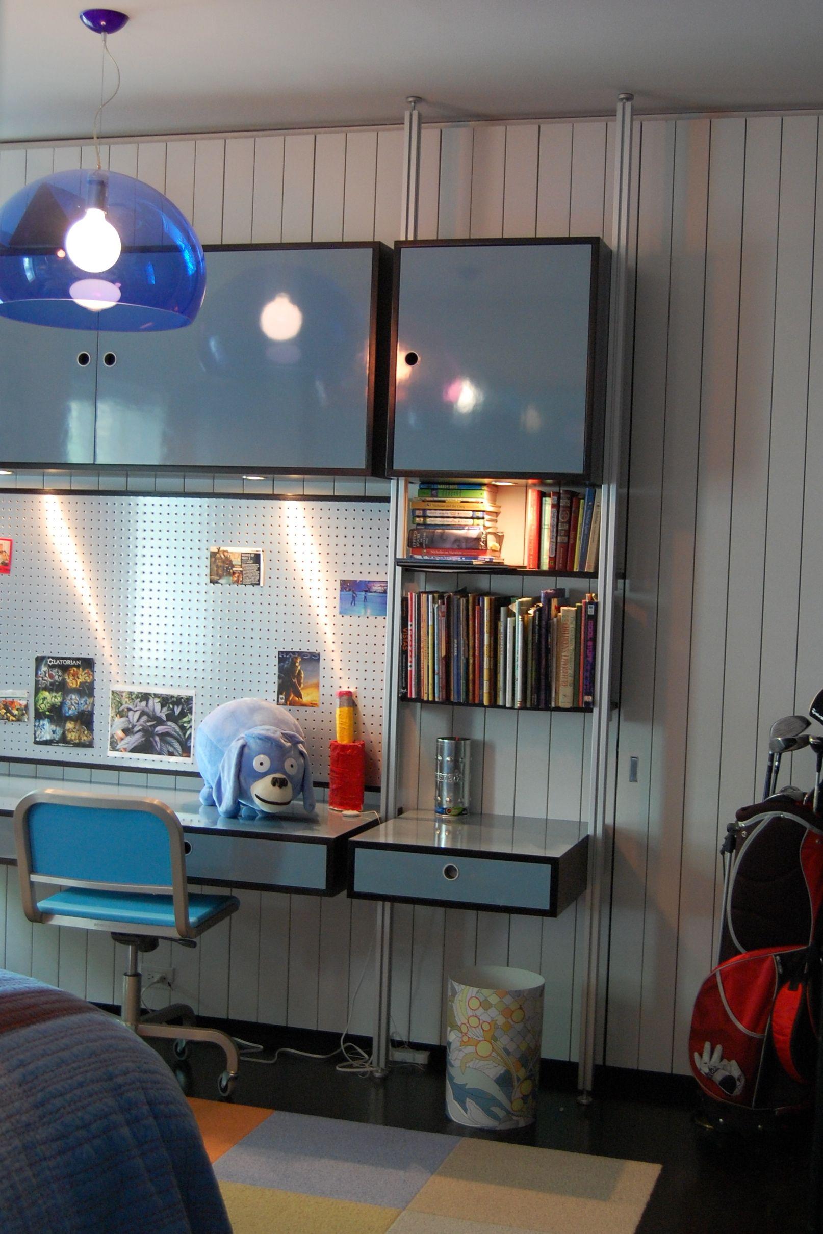 11 Year Old Boys Custom Bedroom Design Including Modular Storage