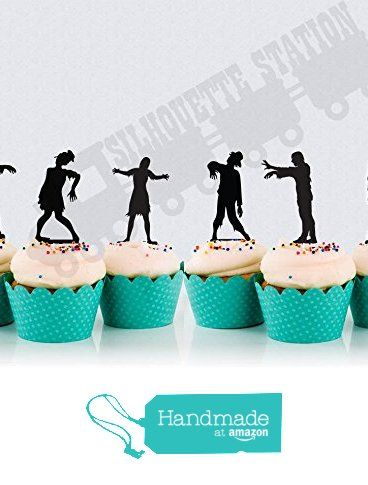 Zombie Cupcake Toppers from Bee3DGifts https://www.amazon.com/dp/B01D0KKRHW/ref=hnd_sw_r_pi_awdo_EnGByb52SSHAM #handmadeatamazon