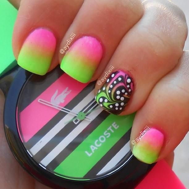 DIY Nails Art :Neon Nails Art