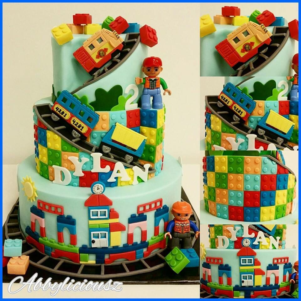Lego Duplo Cake Baby Boy In 2019 Lego Cake Birthday Cake Lego