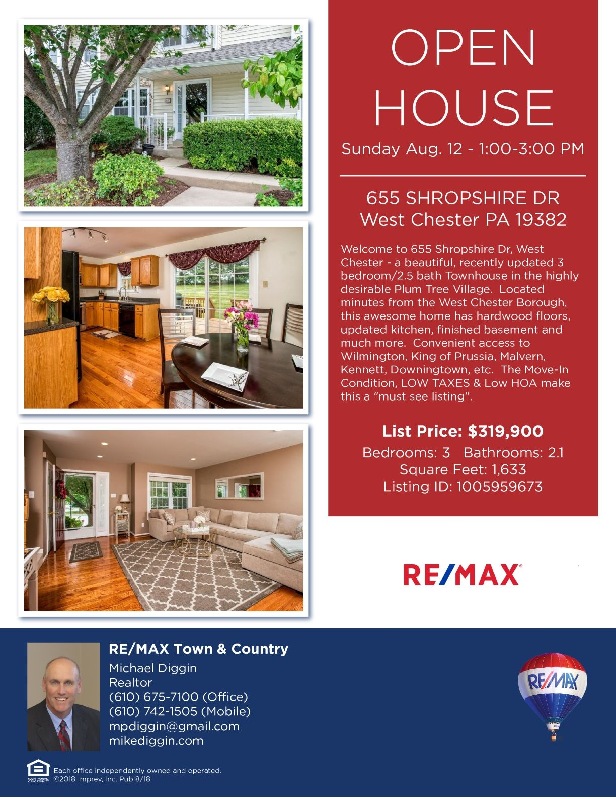 Please stop by on Sunday Open House West Chester PA