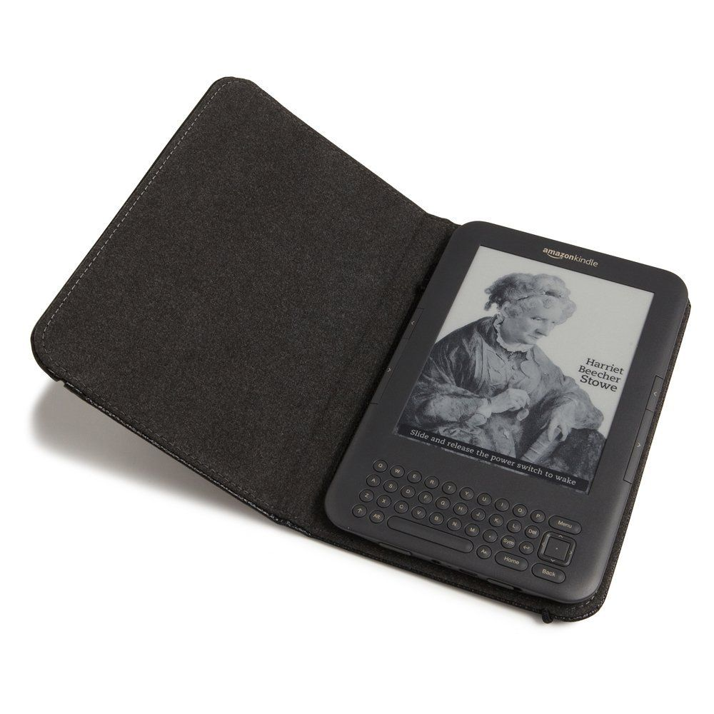 amazoncom kindle leather cover black updated design (fits  - amazoncom kindle leather cover black updated design (fits kindlekeyboard