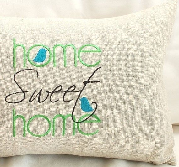 Home sweet machine embroidery design