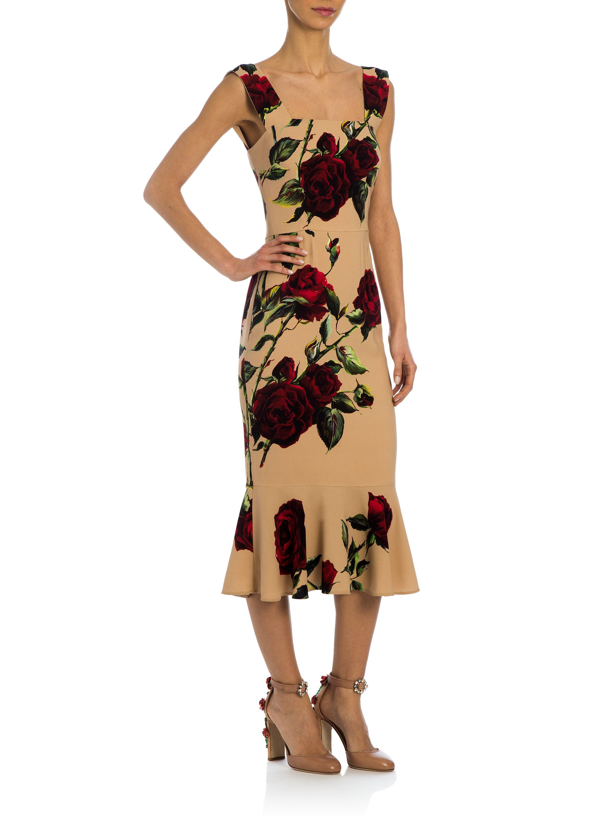 Cady Midi Dress - Black Dolce & Gabbana Real Online Buy Cheap Low Shipping Sale Prices 5oOaR
