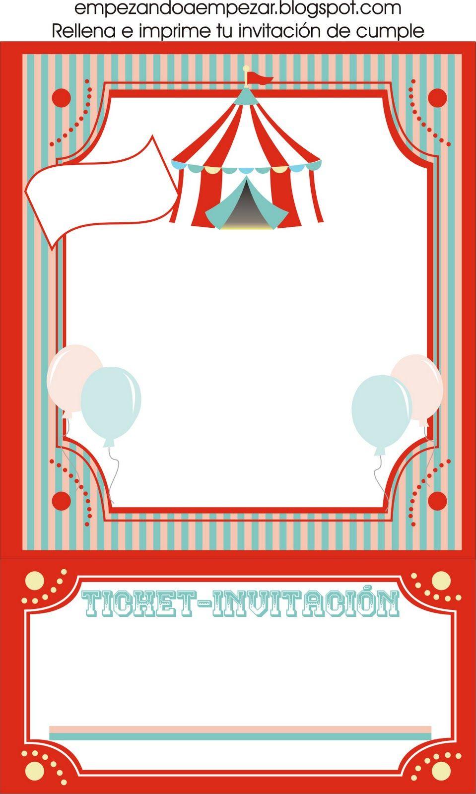 Empezando a empezar todo para tu circo fiesta de - Todo para fiestas de cumpleanos ...