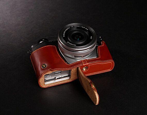 Olympus EM10 Case, OMD EM10 Ledertasche für Kameras, Olympus Kameratasche, einfache Half Leather Case Kameratasche
