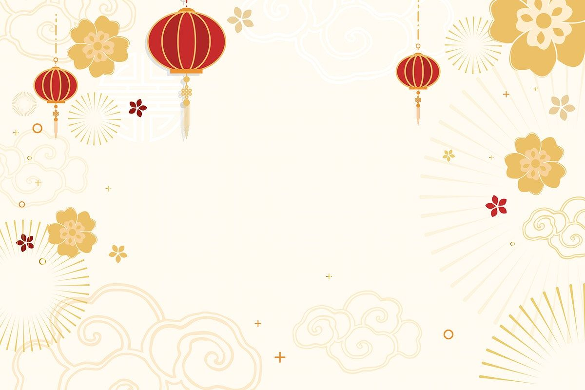 Download Premium Vector Of Chinese New Year Celebration Vector Festive Beige Greeting Background By Namcha About Chinese New Year Cherry Blossom Cny Lunar Ne Chinese New Year Design Chinese New Year