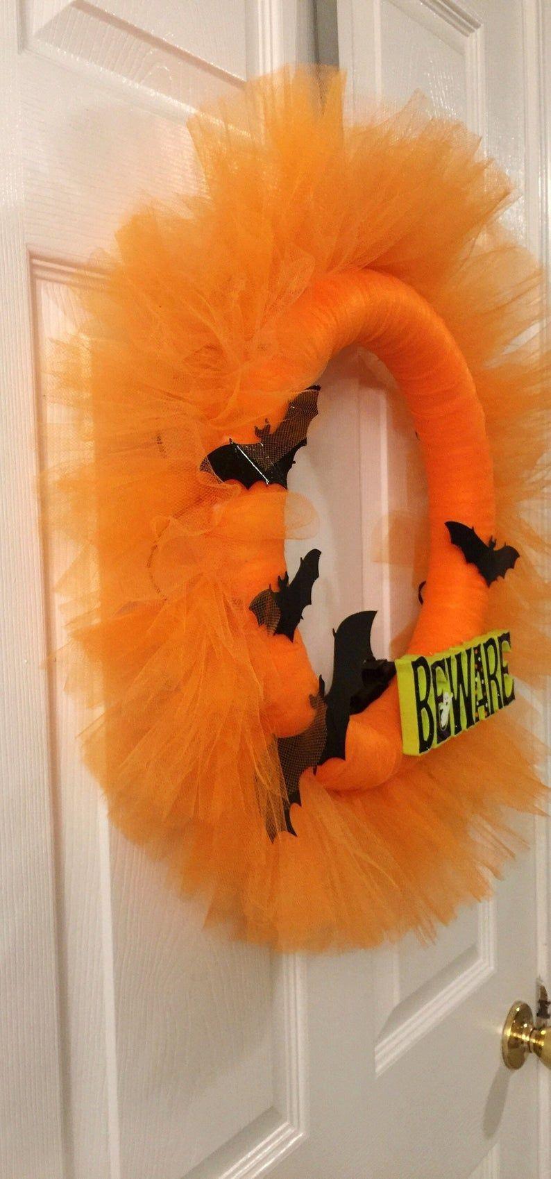 decor wreath Halloween Halloween  wreath door October