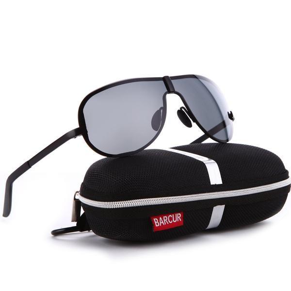 BARCUR Rimless Glasses Metal HD Polarized Driving Sunglasses Mens