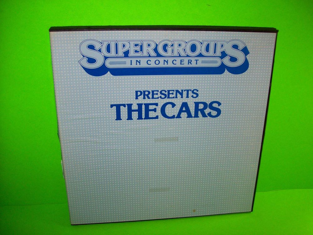 The Cars Super Groups In Concert Presents The Cars Rare 1979 Box Set 2 Lps Lps Boxset Vinyl Records