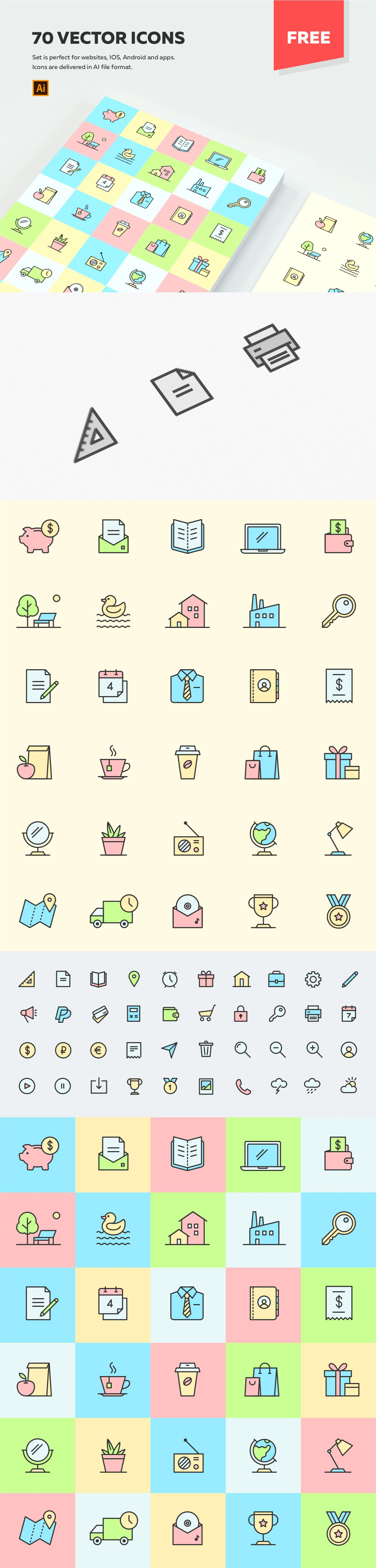 70 MULTIPURPOSE VECTOR ICONS Vector icons free, Vector