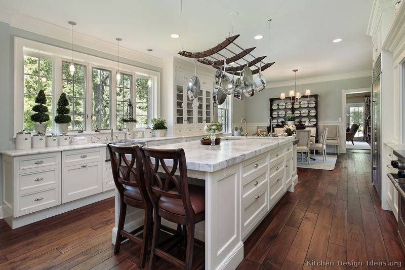 Captivating #Kitchen Idea Of The Day: Love This Traditional White Kitchen With Wood  Flooring And