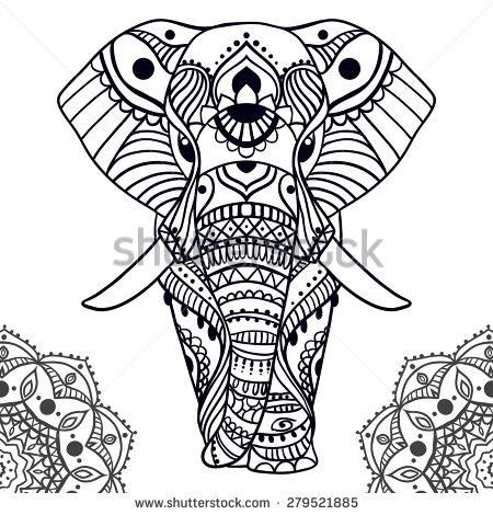 d0d3-vector-greeting-beautiful-card-with-elephant-frame-of-peacock ...