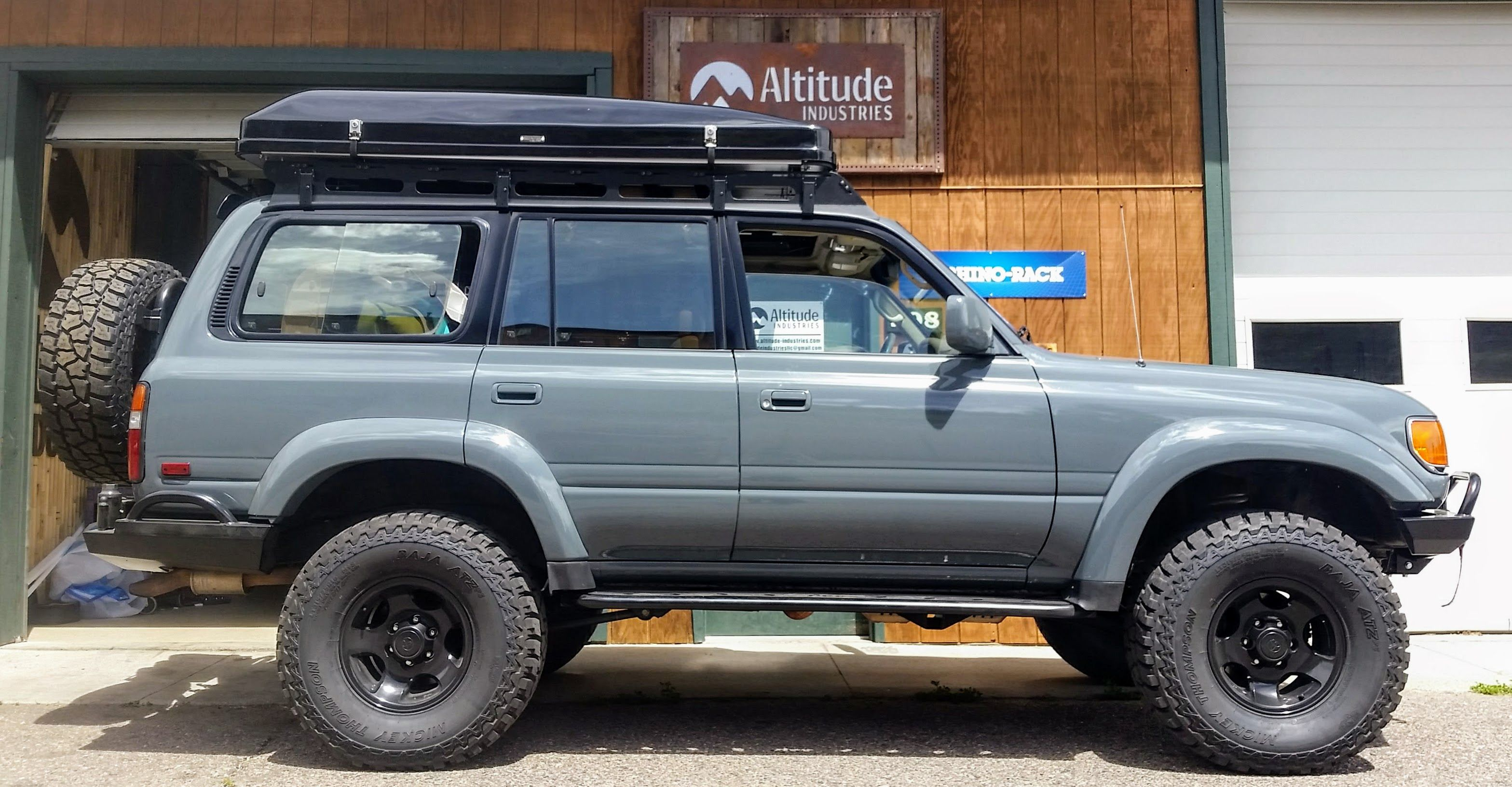 Amazing Restored Land Cruiser With A Brand New Ikamper Skycamp Rooftop Tent Ready For Adventure Land Cruiser Overland Gear Toyota Suv