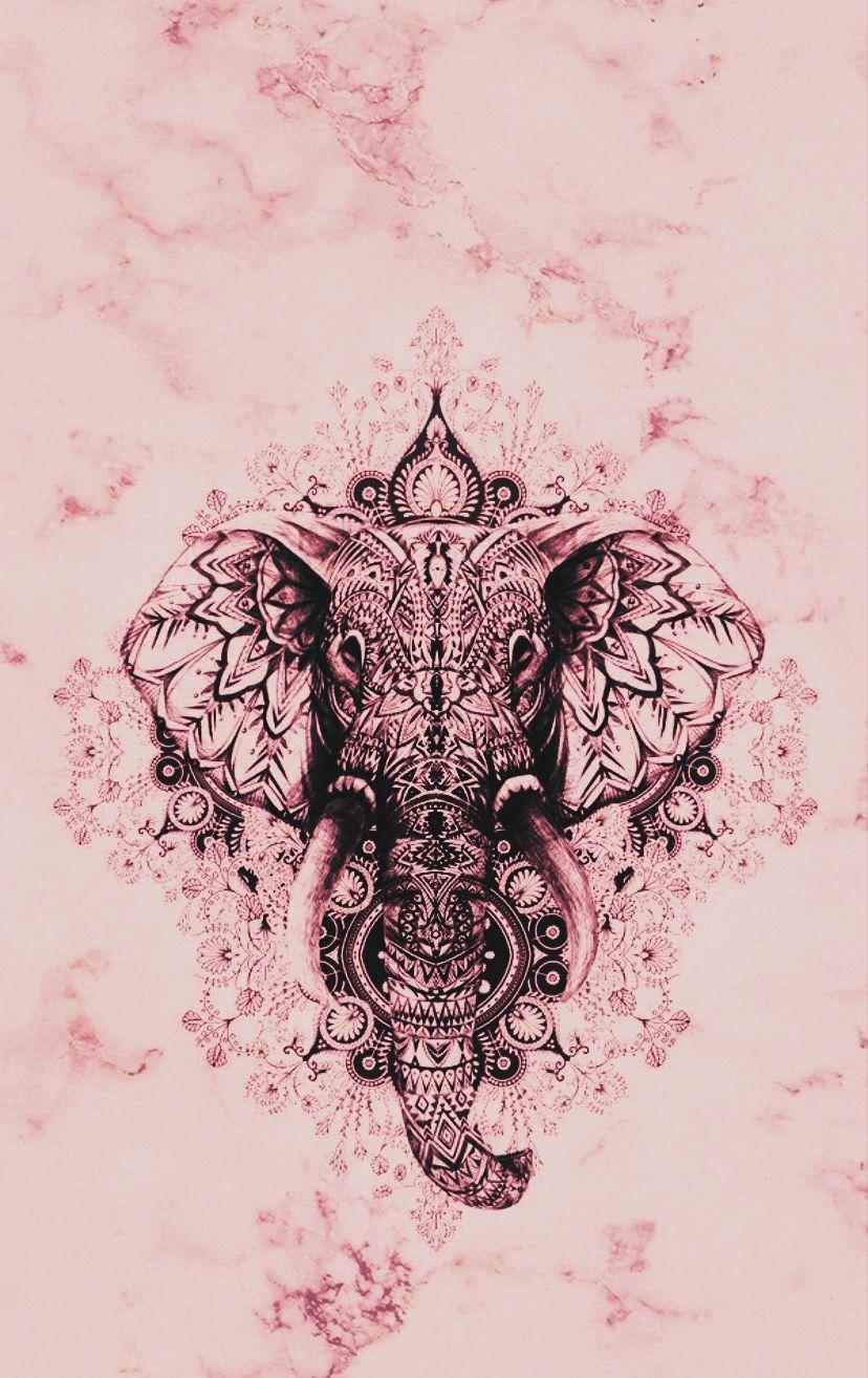 Elephant Marble Pink Animal Geomatric Tattoo Inspiration Ideeen Dier Marmer Pink Wall Elephant Wallpaper New Wallpaper Iphone Wallpaper Iphone Cute