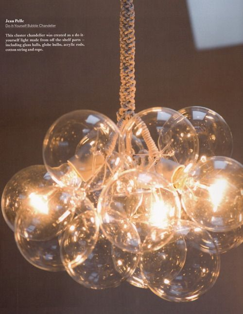 This cluster chandelier was created as a diy light from shelf this cluster chandelier was created as a diy light from shelf parts glass balls aloadofball Image collections