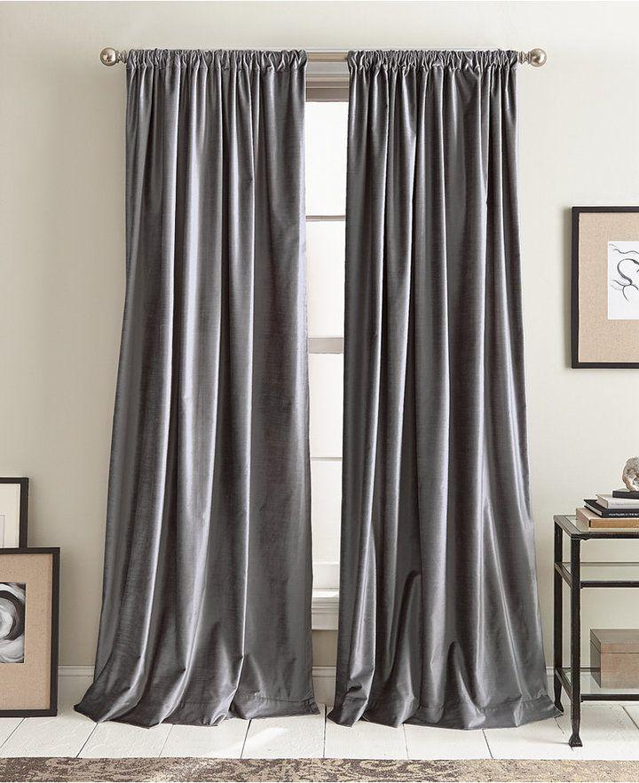 Dkny Modern Textured Velvet 50 X 96 Pole Top Pair Of Window Panels