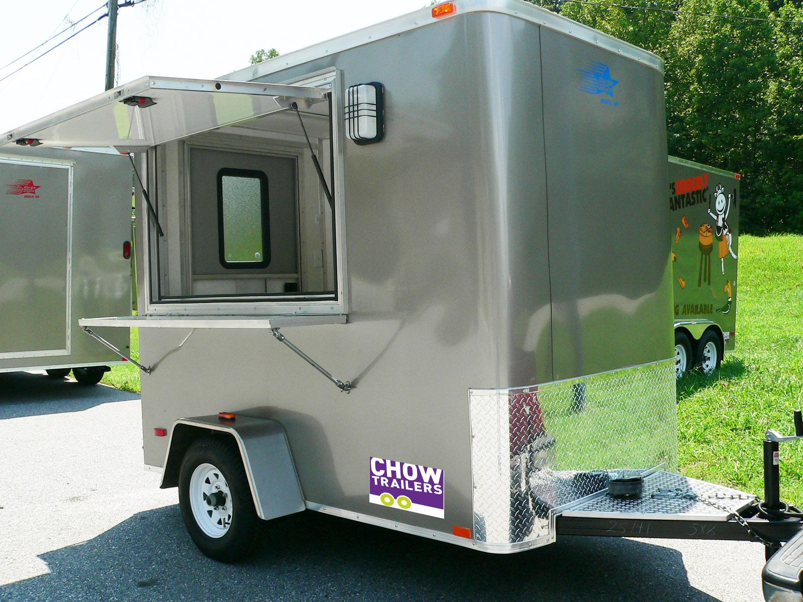 5 X 8 Retro Mobile Food Truck Trailer Turn Key Business For Sale