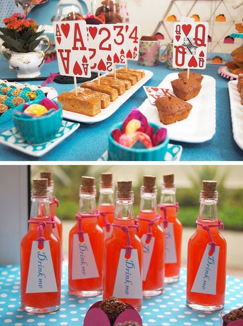 Quick Food Ideas Alice In Wonderland Tea Party Alice Tea Party