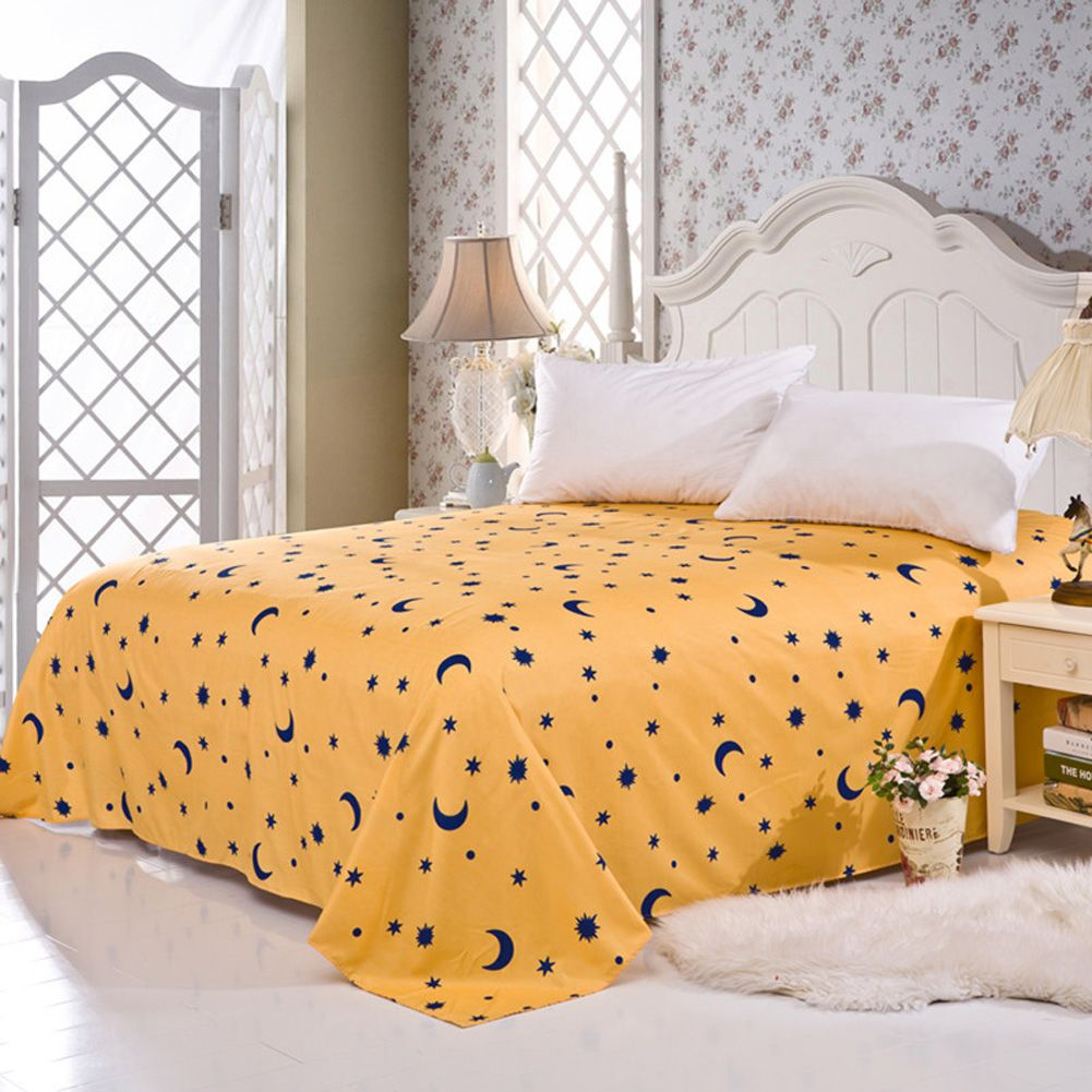 Floral Color Flat Sheet Twin Full Queen King Comfort