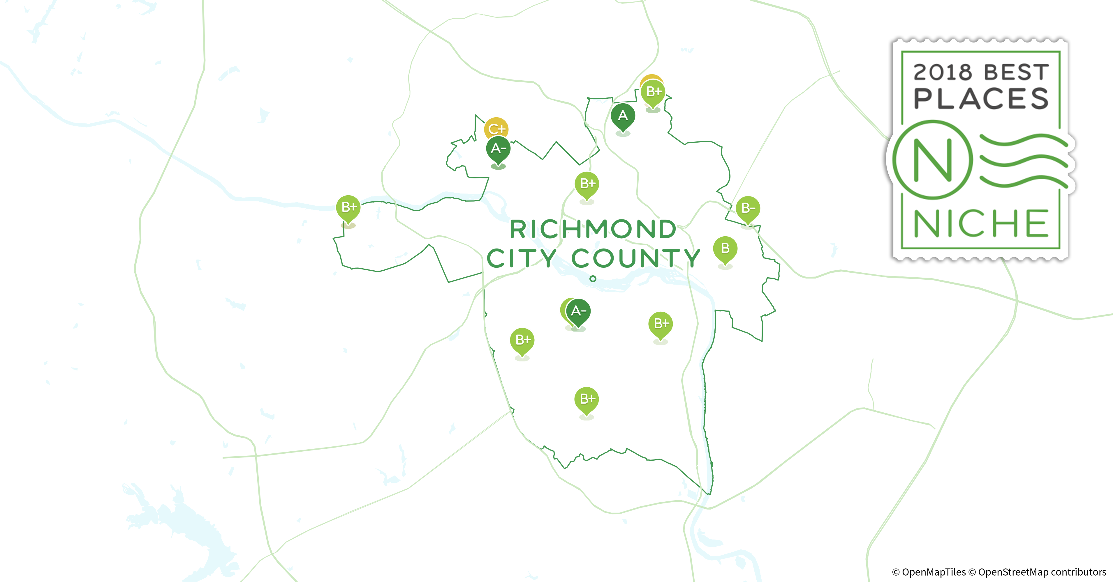 Explore the best places to live in Richmond City County