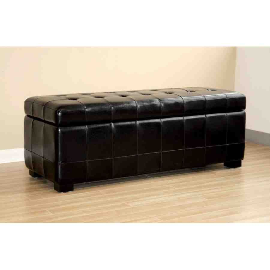 Leather Storage Ottoman Bench Storage Bench Designs Black