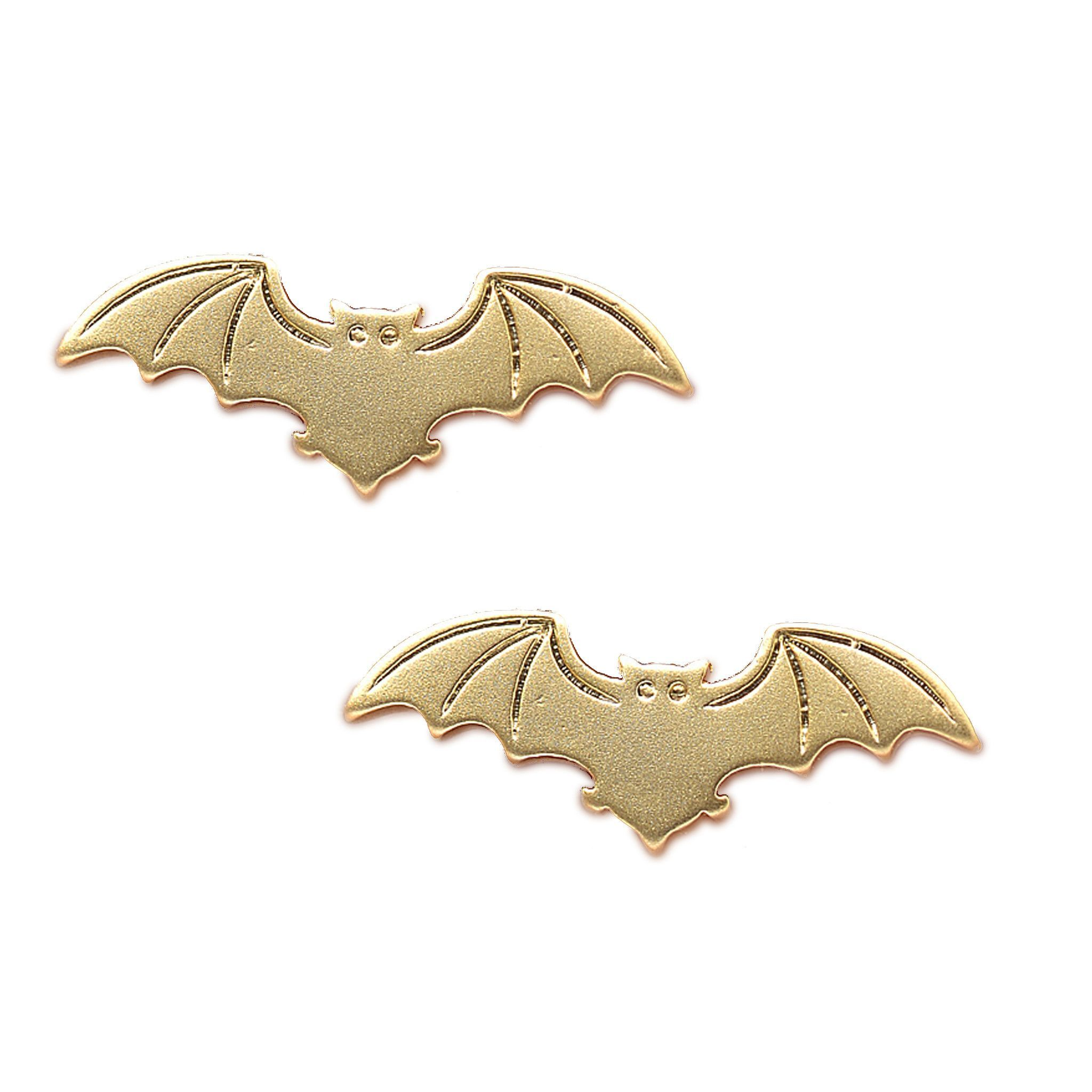 Spinningdaisy Matte Finish Mighty Bat Earrings