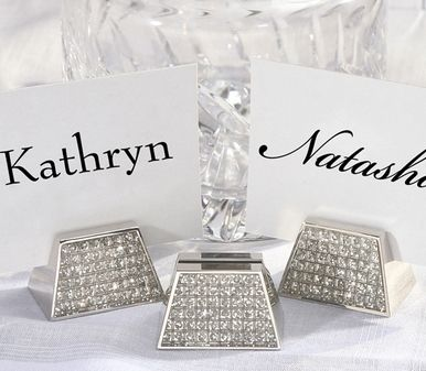 diamond placecard holders check the site these might just be crystals